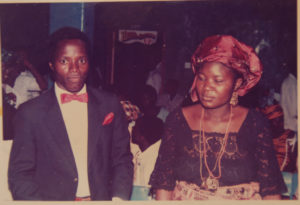 Prof. Naomi Nari with husband James - Rugu